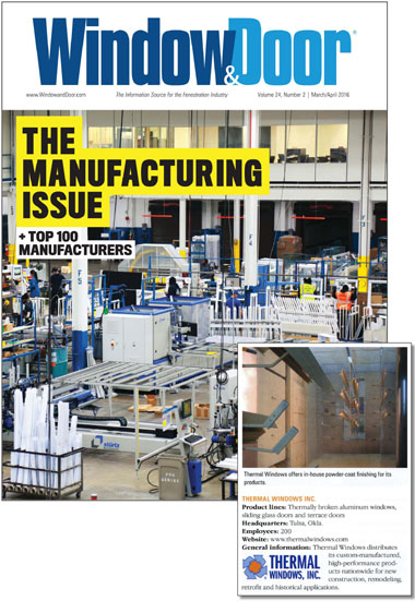 Window Door Magazine Consistently Names Us A Top 100 Manufacturer We Compete With And Companies Throughout The United States