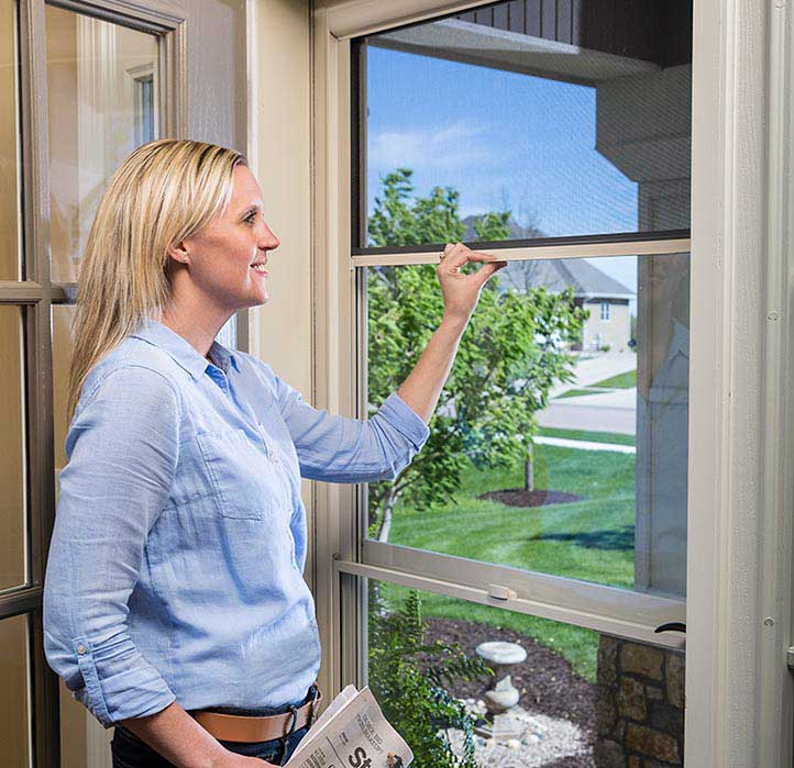 The retractable screen disappears into the top cassette when not in use. It combines the beauty of a full-view door with the convenience of ventilation.  sc 1 st  Thermal Windows Inc. : larson doors headquarters - pezcame.com