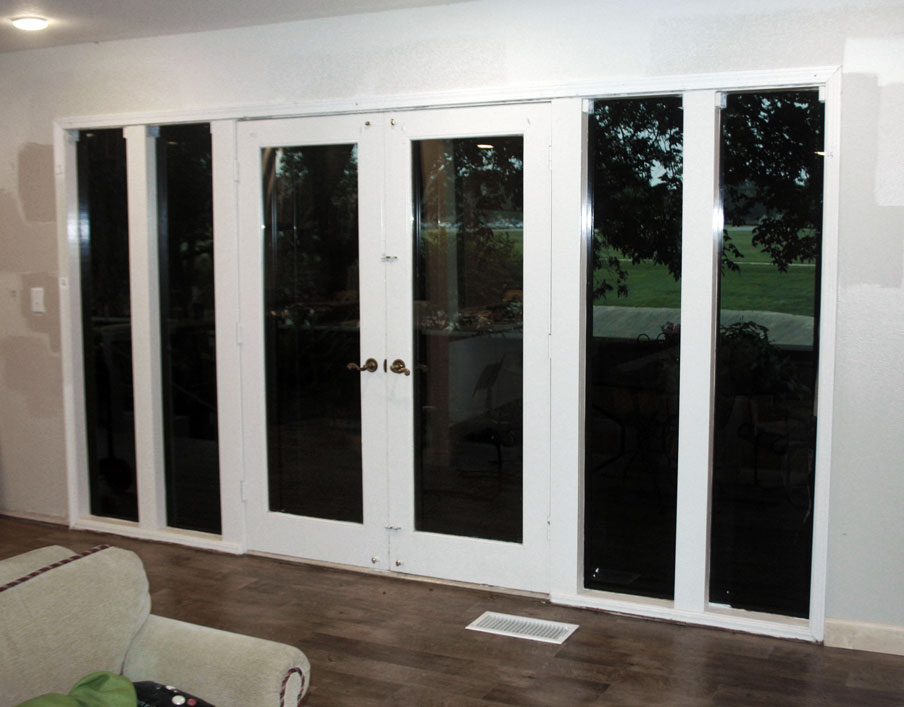 Before And After Patio Door Transformation Thermal