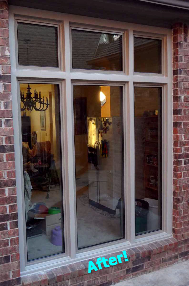 Thermal Windows In Sandstone Finish With Brake Metal Trim Click For Larger Image